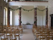 Great Hall set up for a Ceremony with 120 Guests (200max)